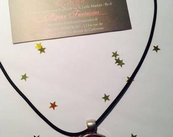 "Rubber pendant 25 mm ""Grandma"" Choker necklace"