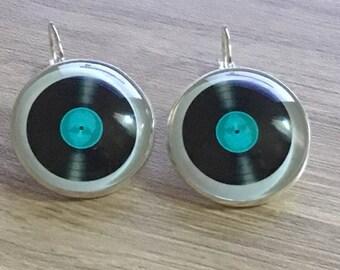 """Earrings """"vintage"""" vinyl"""