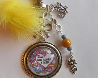 """Bag charm, door keys/home / """"for a great home"""" / year end gift/party / thanks/Christmas/birthday"""
