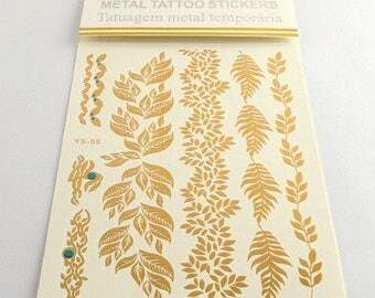1 Board with tattoo tattoo temporary ephemeral Sor a1 gold stickers