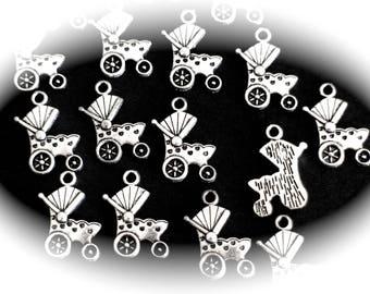 10 charms pram crib in silver