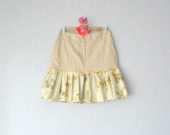 Beige skirt and fabric Japanese woman size 38 - S