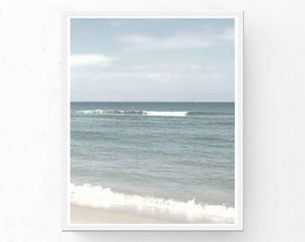 CERULEAN OCEAN PRINT, Ocean Photography, Digital Download, Printable Wall Art, Cerulean Wall Art, Cerulean Print, Ocean Wall Art, Cerulean