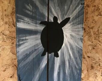 Reclaimed wood Sea Turtle