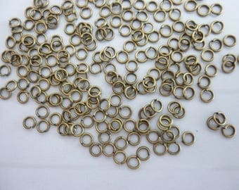 50 bronze 4mm open jump rings