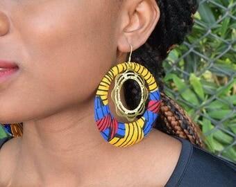 Farah wax (Ankara) earrings
