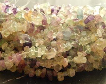 100 polished natural Fluorite chips