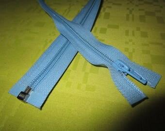 light blue colored nylon separable closure