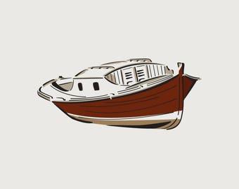 Boat (ref 836) adhesive vinyl stencil