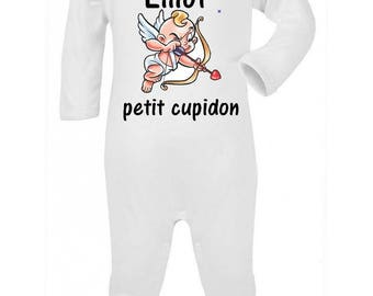 Little Cupid personalized with name baby pajamas