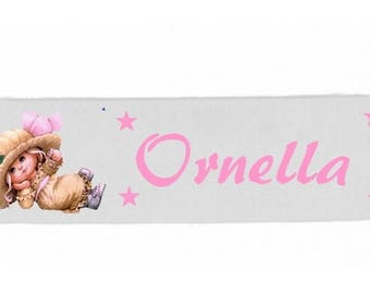White girl baby girl vintage personalized with name banner