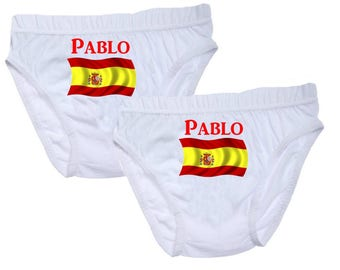 Personalized with name Spain boys underwear