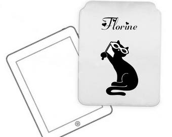 Cover for tablet pc cat personalized with name