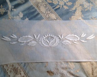 Beautiful antique embroidery on Lopez, never framed