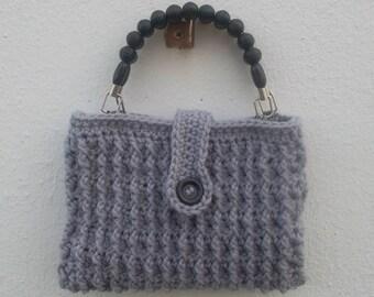 """""""CITIZEN"""" gray crochet hand bag"""