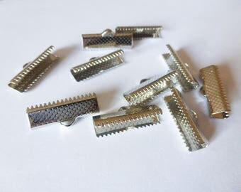 10 tips 20 * 8 mm (SFEN02) silver metal claw clips