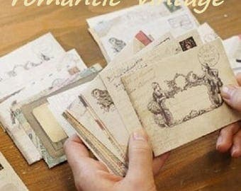 6 mini envelopes 9.5 * 7.2 cm in old style scrapbooking paper