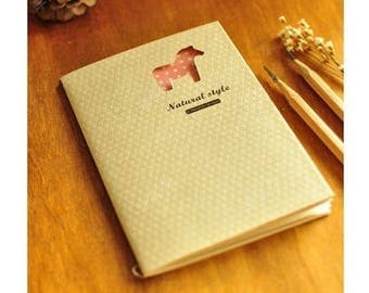 Pretty notebook flap model vintage spirit horse, 48 pages ivory