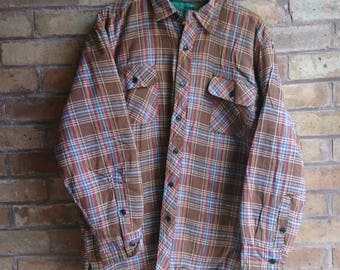 Vintage brown checked shirt