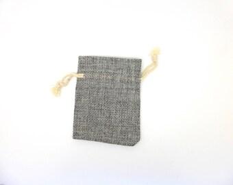 Bag, Burlap, gift wrapping, gray