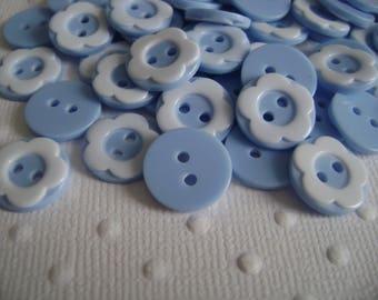 Blue floral buttons
