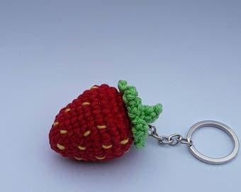 Strawberry key holder - gift for her