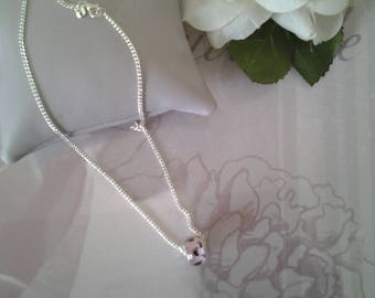 Necklace chain and charms 925 sterling silver