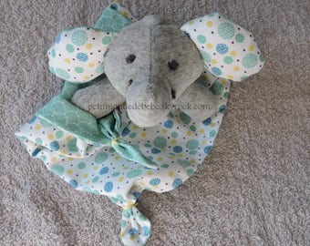 Plush elephant handkerchief