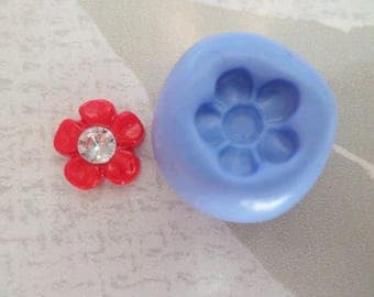 "Flexible silicone mold ""superb miniature flower 1 cm"""