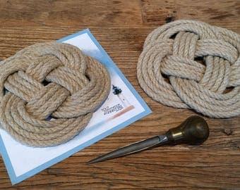 Trivet - Rug - Navy Decoration - hemp - Britany - 4 loops