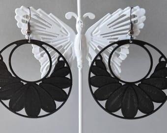 Earrings * earrings * black metal