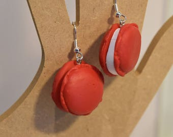 Earrings ' ears intensive red buttons