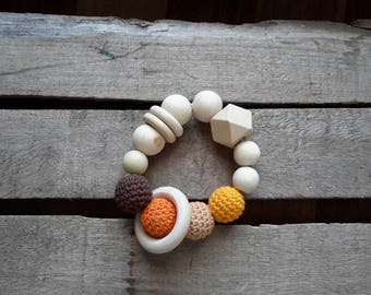 "The ""Morsotti"" teething bracelet colours of the desert"