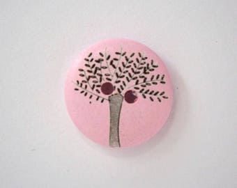 Olive wood 20mm - Rose Clair x 001833 4 wooden buttons