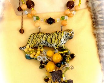 The Panther animal designer baroque necklace