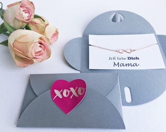 2 x ICH love you Mama gift: bracelet + map