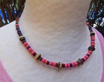 Children coconut multicolor necklace