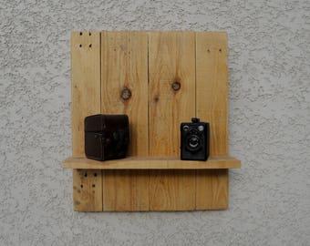 large wood wall shelf