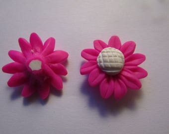 Pearl flower polymer 25mm in diameter