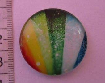 1 glass cabochon 30mm in diameter