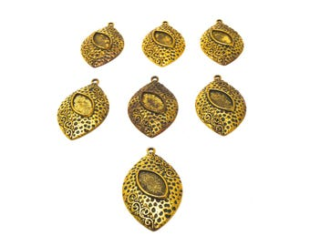 7 ornate cameo charm antique gold 37 * 27 * 3 mm cameo 10 * 13 mm