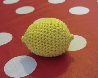 Crocheted cotton lemon yellow to play the market Dinette sets