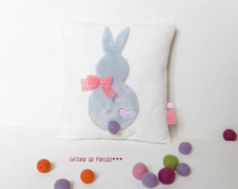 Mini Bunny grey and Pink for cuddle pillow
