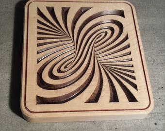 Trivet with optical illusion pattern