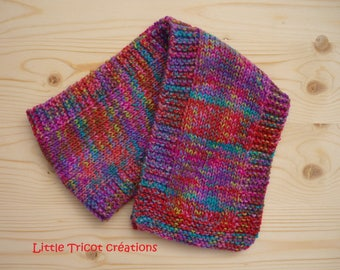 Scarf multicolor girl (1/3 years old) hand-made in wool
