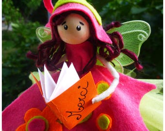 "Fairy book ""Merci"": personalized fairy creation/thank you gift"