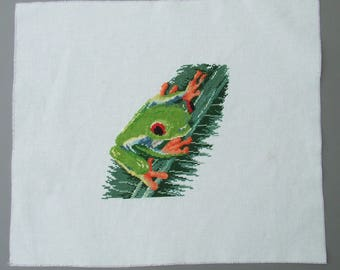 cross stitch on Aida canvas