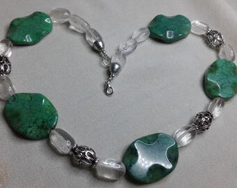 """Necklace """"turquoise Lake"""" and rock crystal"""