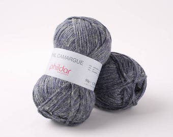 PHIL CAMARGUE phildar indigo color cotton yarn
