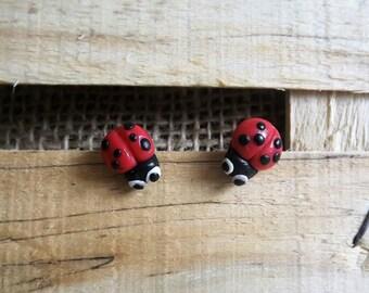Pair these Ladybug earrings